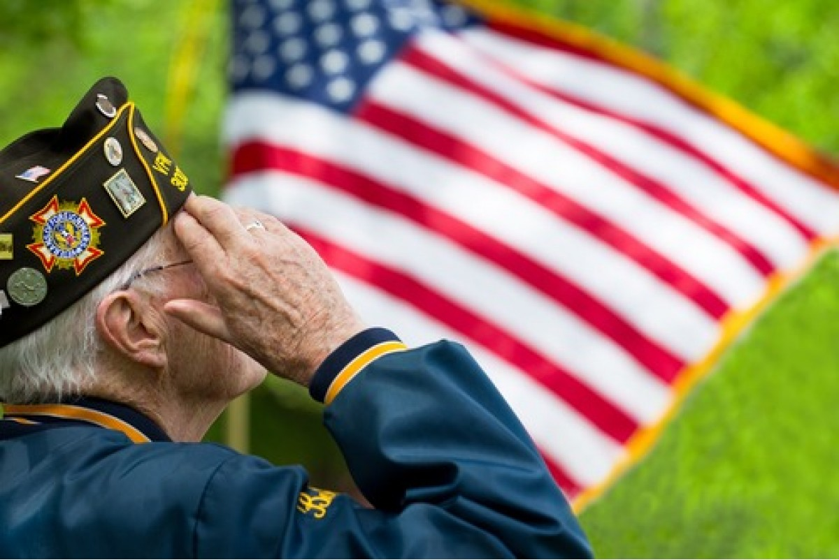 VFW Saluting Flag