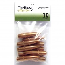 Top Brass .50 BMG 647 Grain Full Metal Jacket Pull Down Bullets 10 pieces