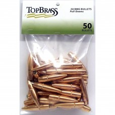 Top Brass .50 BMG 647 Grain Full Metal Jacket Pull Down Bullets 50 pieces