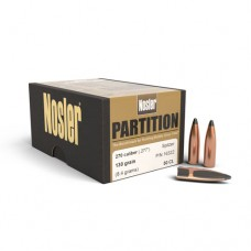 "Nosler Partition Bullets 270 Caliber .277"" Diameter 130 Grains Box of 50"