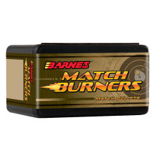 Barnes Match Burner .22 Caliber .224 Diameter 52 Grain Hollow Point Flat Base Bullets box of 100