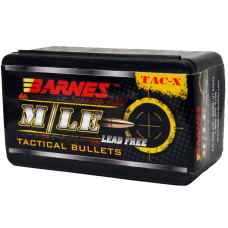 Barnes TAC-X .22 Caliber .224 Diameter 55 Grain Hollow Point Flat Base Copper Bullets Box of 50