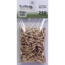 Top Brass .223 55 Grain Full Metal Jacket Pull-Down Bullets 250 pieces