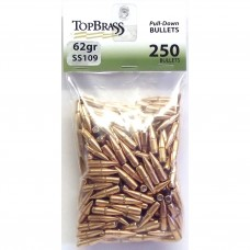 Top Brass .223 62 Grain SS109 Full Metal Jacket Pull Down Bullets 250 pieces