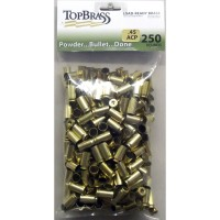 Top Brass .45 ACP Brass 250 Pieces Primed Bulk Package