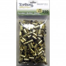 Top Brass .45 ACP Brass 250 Pieces Unprimed Bulk Package