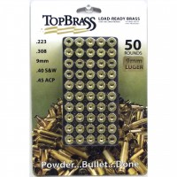 Top Brass 9mm Luger Brass 50 Pieces Unprimed with Plastic Storage Tray