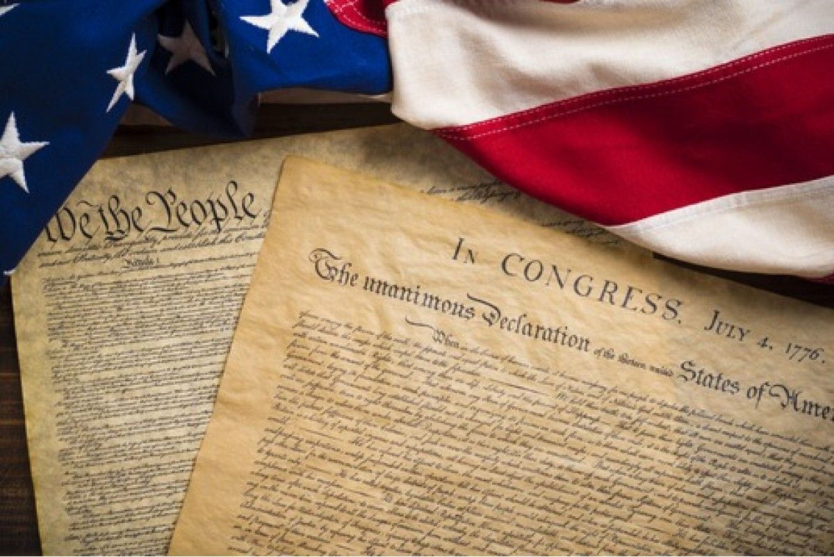 United States Declaration of Independence and Constitution