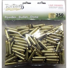 .223 Remington Brass 250 Pieces Primed Bulk Package