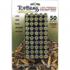 Top Brass .223 Remington Primed Brass 50 Pieces with Plastic Tray