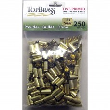 Top Brass .40 S&W Brass 250 Pieces Primed Bulk Package