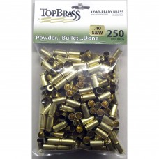 .40 S&W Brass 250 Pieces Unprimed Bulk Package