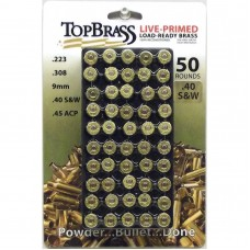 .40 S&W Brass 50 Pieces Primed with Tray