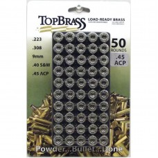 .45 ACP Brass 50 Pieces Primed Nickel with Plastic Tray