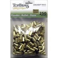 Top Brass 9mm Luger Brass 250 Pieces Unprimed Bulk Package