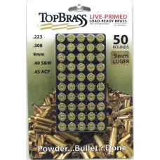 9mm Luger Brass 50 Pieces Primed with Storage Tray