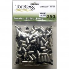 9mm Luger Brass 250 Pieces Unprimed Nickel Bulk Package