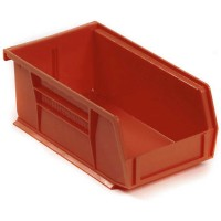Akrobin 30220 Stackable Storage Bin 7-3/8 x 4-1/8 x3 Red