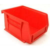 Akrobin 30210 Stackable Storage Bin 5-3/8 x 4-1/8 x3 Red