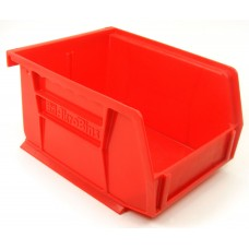 Akrobin 30210 Stackable Storage Bin 5-3/8 x 4-1/8 x3 Red Used