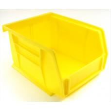Akrobin 30210 Stackable Storage Bin 5-3/8 x 4-1/8 x3 Yellow Used