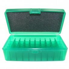 FS Reloading Plastic Ammo Box Large Pistol 50 Round Translucent Green