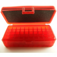 FS Reloading Plastic Ammo Box Small Pistol 50 Round Translucent Red