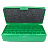 FS Reloading Plastic Ammo Box Automatic Pistol 50 Round Solid Green