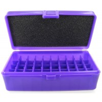FS Reloading Plastic Ammo Box Automatic Pistol 50 Round Solid Purple