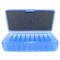 FS Reloading Plastic Ammo Box Automatic Pistol 50 Round Translucent Blue