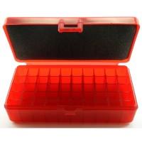 FS Reloading Plastic Ammo Box Automatic Pistol 50 Round Translucent Red