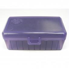 FS Reloading Plastic Ammo Box Medium Pistol 50 Round Purple