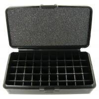 FS Reloading Plastic Ammo Box Small Pistol 50 Round Solid Black
