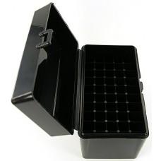 FS Reloading Plastic Ammo Box Large Rifle 50 Round Solid Black