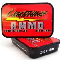 Lightning Ammo .22 Cal., .224 Diam., 55 gr FMJ-BT w/c (40 tins of 100)