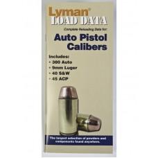 Lyman Load Data Book Auto Pistol Calibers