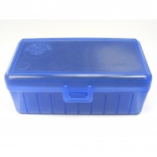 FS Reloading Plastic Ammo Box Medium Pistol 50 Round Translucent Blue