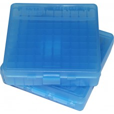 MTM Case-Gard Hinge Top Ammo Box 100 Rounds 41 Mag, 44 Mag, 45 LC Blue