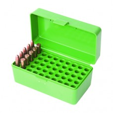 MTM Case-Gard Solid Green Ammo Box 50 Rounds 22 Hornet, 30 M1 Carbine