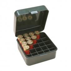 """MTM Case-Gard Flip-Top Shotshell Box 12 or 20 Gauge 2-3/4"""" and 3"""" 25-Round Green"""