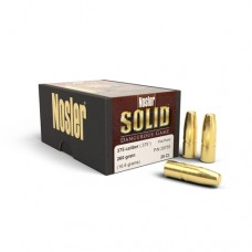 Nosler Solid .375 Caliber 265 Grains Flat Nose Box of 25