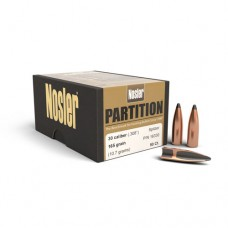 "Nosler Partition Bullets 30 Caliber .308"" Diameter 165 Grains Box of 50"