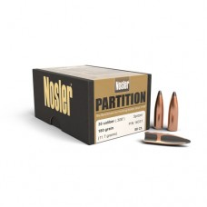 "Nosler  Partition Bullets 30 Caliber .308"" Diameter 180 Grains Box of 50"