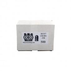 SNS Cast Lead Bullets 38/357 .358 158 Grain RN Box of 500