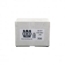 SNS Cast Lead Bullets 38/357 .358 158 Grain SWC Box of 500