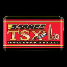 ".22 Caliber .224"" 53 Grain Hollow Point Flat Base Barnes Triple-Shock X Bullets box of 50"