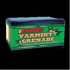 .243 Caliber, 6mm 62 Grain Hollow Point Flat Base Barnes Varmint Grenade Bullets box of 100