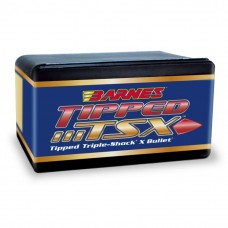 "Barnes Tipped Triple-Shock X .22 Caliber .224"" 55 Grain Spitzer Boat Tail bullets box of 50"