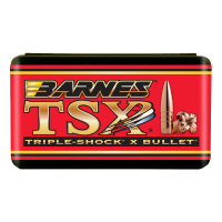 Barnes Triple-Shock X Bullets .22 Caliber .224 Diameter 55 Grain Hollow Point Flat Base Bullets Box of 50