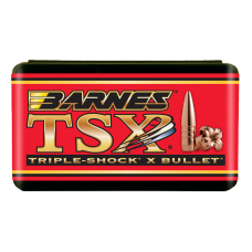 "Barnes TSX Bullets .22 Caliber .224"" Diameter 62 Grain Hollow Point Boat Tail box of 50"